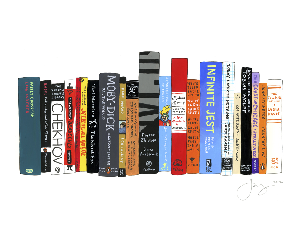 Ideal Bookshelf George Saunders By Jane Mount